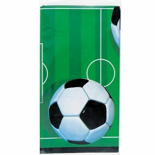 Football Table Cover Cloth Boys Tableware Party Supplies Soccer Footy Pitch