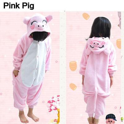Unisex Kids Pajamas Pink Pig Kigurumi Unisex Cosplay Animal Costume - Pigs Costume