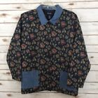 Denim & Co. Denim Floral Coats & Jackets for Women