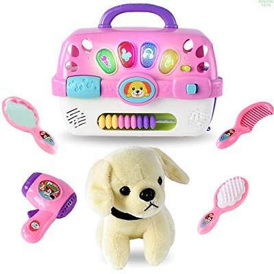 - WolVol Pet Vet Kit - Colorful Pet Grooming Playset Toy with Lights & Audio