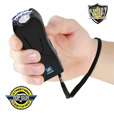 StreetWise Life Guard 6,500,000* Stun Gun With Holster LED Light Black Powerful