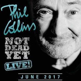 Phil Collins tickets Liverpool arena 2nd June 2017 Block 8