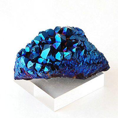Crystal Natural Aura Amethyst Blue Titanium Specimen Cluster Stone Quartz NEW