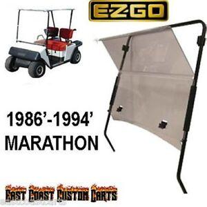 EZGO-Marathon-1986-1994-Golf-Cart-Fold-Down-Windshield-TINTED