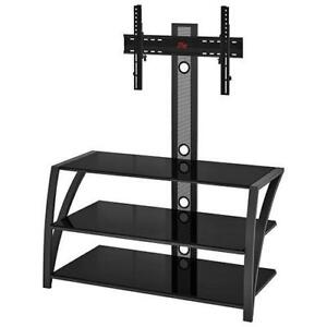 """Z-Line Designs FS22-44M29U Fiore TV Stand with Integrated Mount for TVs Up To 65"""" (Assembled)"""