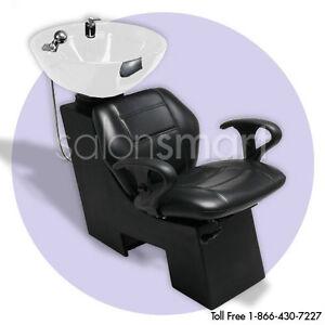 Shampoo unit backwash sidewash bowl chair salon equipment for A and m salon equipment
