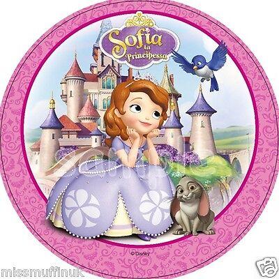 Essbar Tortendeko Sofia die 1 Prinzessin Tortenaufleger NEU backen Party Deko  ()