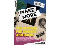 MAKEMORE Festival - 2 tickets for Sat 25th / Sun 26th / Mon 27th August