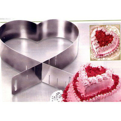 Tortenring Herzbackform Backform Herz verstellbar 27cm