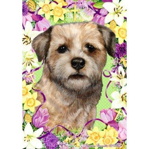 Easter House Flag - Border Terrier 33122