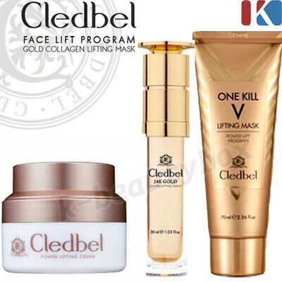 Lifting Face Serum (CLEDBEL Super Amazing Face Lift Program Gold Collagen Lifting Mask Cream Serum)