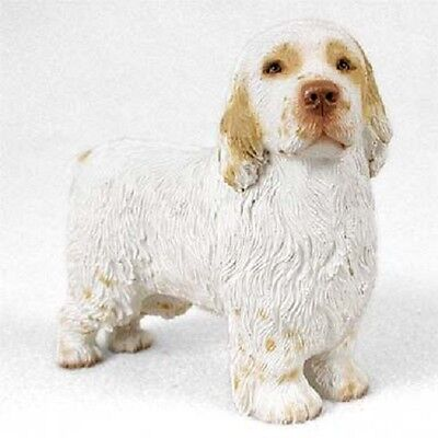 CLUMBER SPANIEL Dog HAND PAINTED FIGURINE Resin Statue COLLECTIBLE puppy NEW