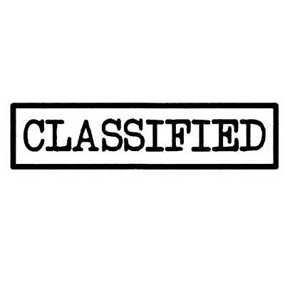 Classified UNMOUNTED rubber stamp #15