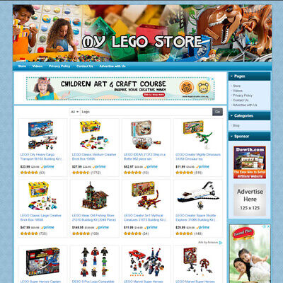 Lego Toys Kits Store - Online Business Website For Sale Free Domain Hosting