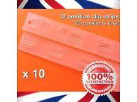 10 x 12 position Clip Strips