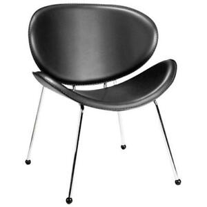 NEW Zuo Isaiah Modern Faux Leather Dining Chair - Set of 2 - Black