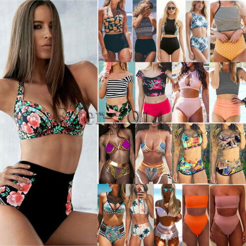 Womens High Waist Bikini Set Push Up Swimsuit Bathing Suit S