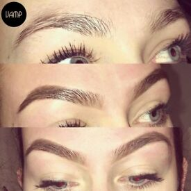 Eyelash extensions Russian volume- classic individual - hd brows plus more