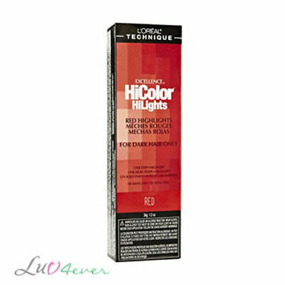 L'Oreal Excellence HiColor HiLights for Dark Hair 1.2 oz - Red / (L Oreal Excellence Hicolor For Dark Hair)