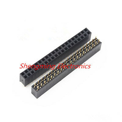 10pcs 2x20 Pin 2.54mm Pitch Dual Row Female Pin Header Connector