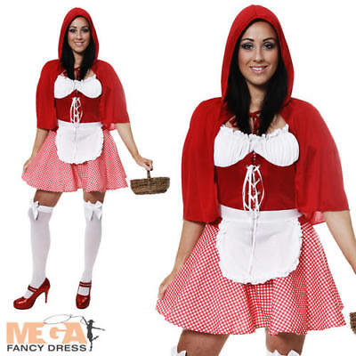 ood Ladies Fancy Dress Fairy Tale Book Adults Costume Outfit (Little Miss Riding Hood)