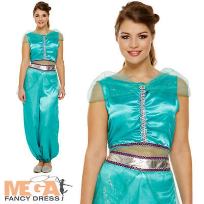 Arabian Princess Ladies Fancy Dress Jasmine Belly Dancer Fairytale Adult Costume](Arabian Ladies Costumes)