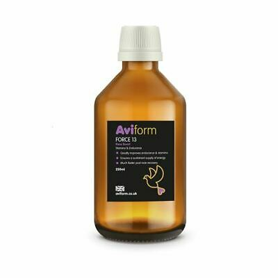 Aviform FORCE 13 Stamina & Endurance Supplement for Racing Pigeons 250ml - New