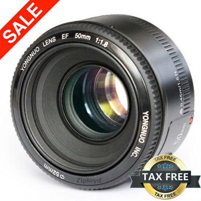 50mm F1.8 Lens for Canon DSLR Camera 5D Mark III 700D 1100D