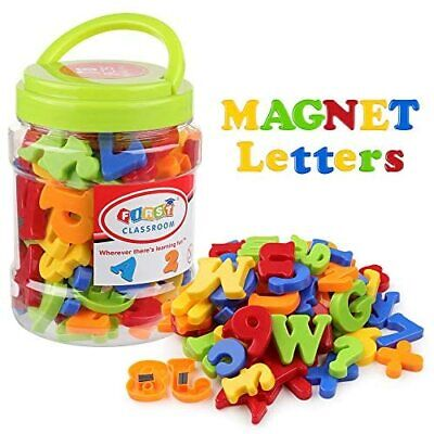 Magnetic Letters Numbers Alphabet Fridge Magnets Plastic ABC 123 Educational Toy