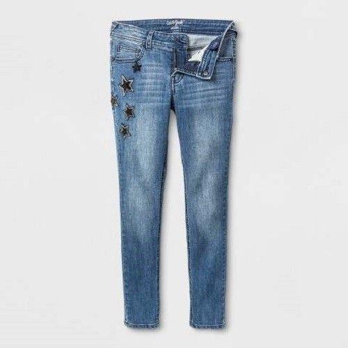 Cat & Jack Girls Dark Super Skinny Stretch Jeans Stars Various sizes Plus Size
