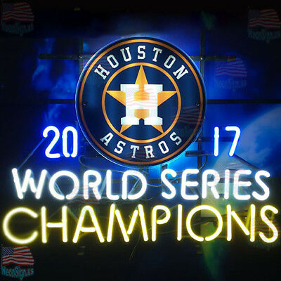 "Houston Astros World Series Champs Neon Sign 24""x20"" From USA"