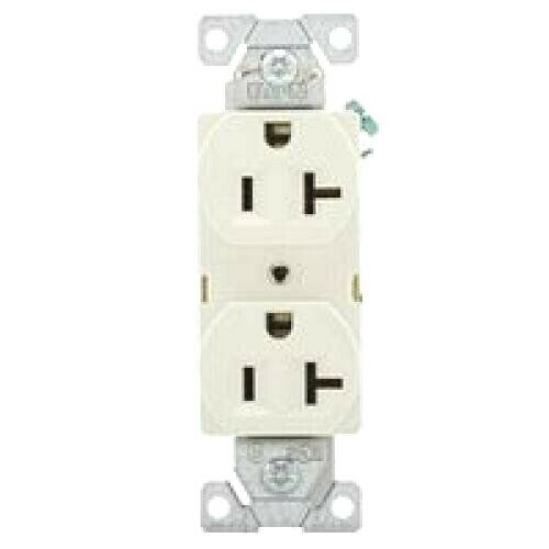 10 Pack 125V 20A Commercial Deco Duplex Receptacle Outlet Plug Almond COOPER NEW