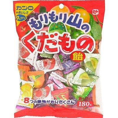 Japanese Food Kanro Fruits Candy Assort 180g Orange Strawberry Grape Melon Peach