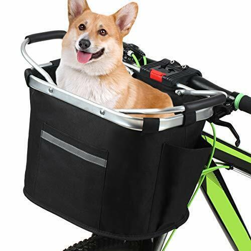 Lixada Bicycle Front Basket Removable Waterproof Bike Handlebar Canvas Basket Pe