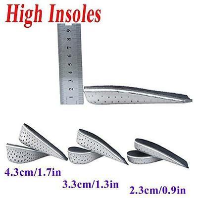 New Unisex Foam Increase Height Lift Half Full Insoles Shoe Inserts Cushion -