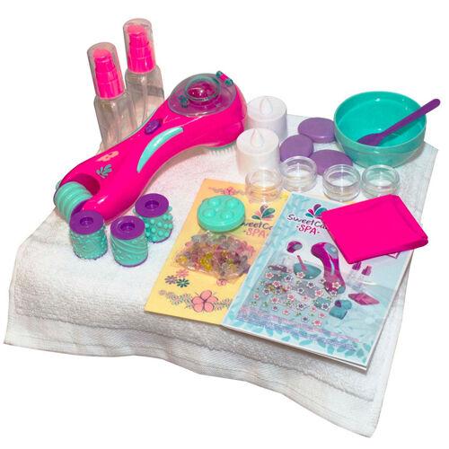 Barbie Ultimate Nail Dryer Set: SWEET CARE MANICURE PEDICURE SET GIRLS HANDS SPA FOOT