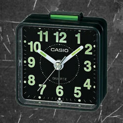 Casio TQ140-1D Travel Clock Quartz Alarm Clock Neobrite Black w Battery New