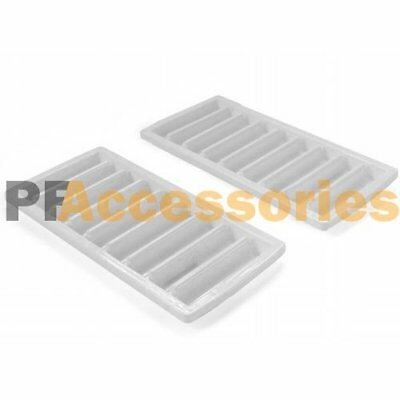 2 Pcs White Ice Cube Stick Tray Fit Sport Water Bottle Cylinder Freezer Tray (Freezer Stick Bottle)