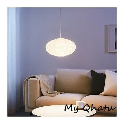 Ikea Solleftea Pendant Lamp Shade, Rice paper, white, round shape](Rice Paper Lamp)