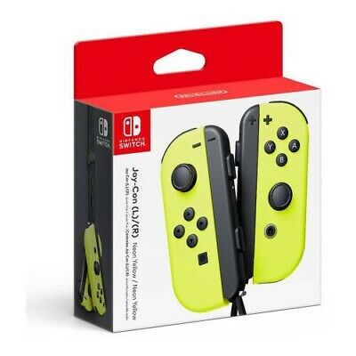 NINTENDO SWITCH JOY-CON CONTROLLERS PAIR NEON YELLOW BRAND NEW IN BOX