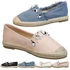 Espadrille Flats Pull On Flats for Women