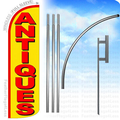 Antiques - Windless Swooper Flag 15 Kit Feather Banner Sign - Yq
