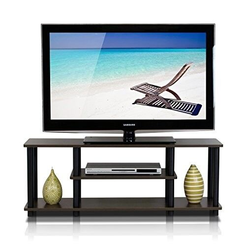 55 Inch 3 Tier Tv Stands For Flat Screens Wood Storage Media