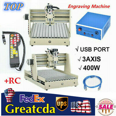 Usb 3 Axis Cnc 3040 Diy Router Engraving Milling Machine Woodworking Handwheel