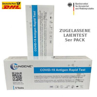 5er Pack Clungene Corona Selbsttest Covid-19 Laien Test Antigen Schnelltest