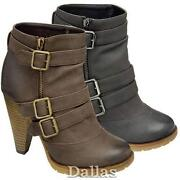 High Heel Ankle Boots Size 2