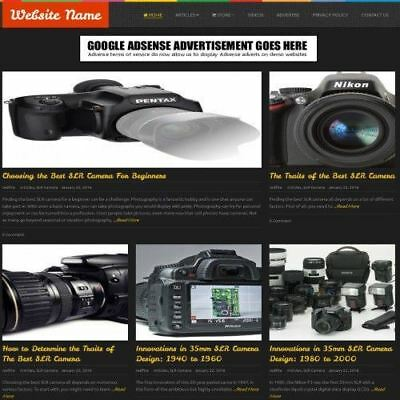 Cameras Store - Website Business For Sale - Work From Home Affiliate Website