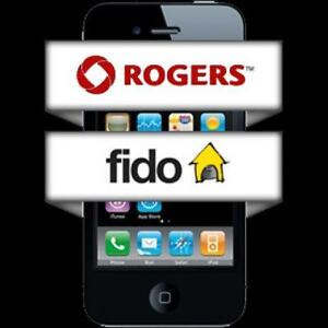 Unlock ANY Roger / Fido Locked Phone - IPHONE SAMSUNG LG HTC SONY BLACKBERRY