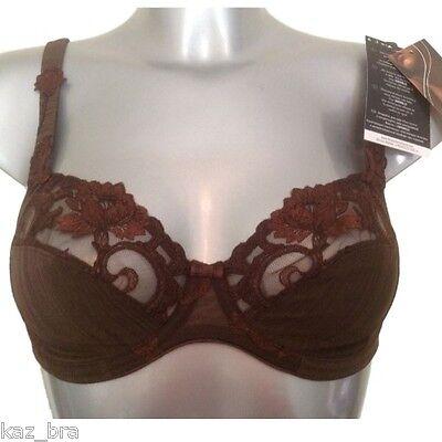 Brown Shimmer Underwired Bra UK 32B FR 85B EU 70B Felina Conturelle New RRP £59