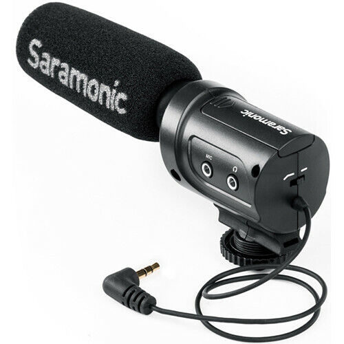 SARAMONIC SR-M3 ON-CAMERA SHOTGUN MICROPHONE WITH HEADPHONE OUTPUT